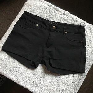 Large black denim shorts Active